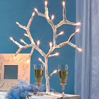 Новогодний светильник в виде дерева