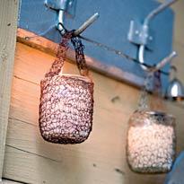 Простые плетеные подсвечники из проволоки