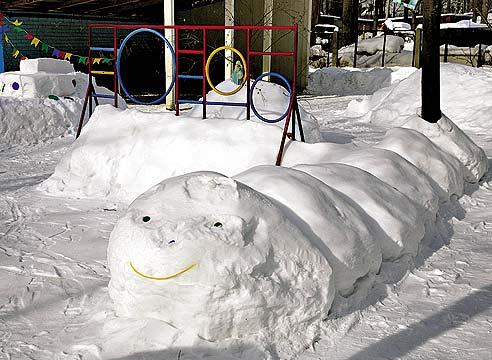 Снежные горки своими руками