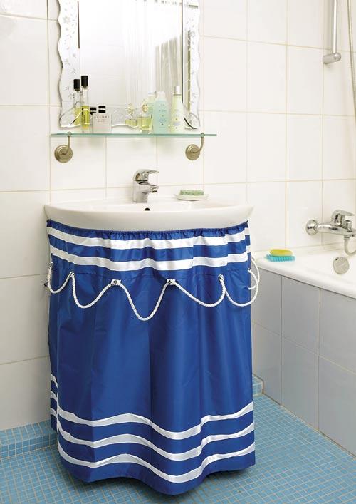 Экран под раковину в ванной своими руками