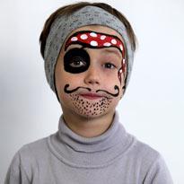 Аквагрим для детей: пират. Мастер-класс