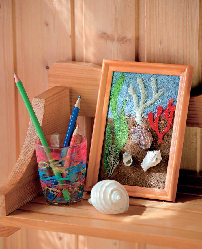 Как сделать картинку из песка