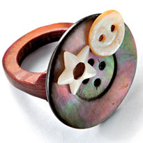 钮扣可以做什么?:16、装饰的点缀 - maomao - 我随心动