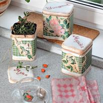 Декорирование банок для хранения чая и травы
