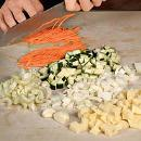 Минестроне с пастой и овощами. Шаг №1
