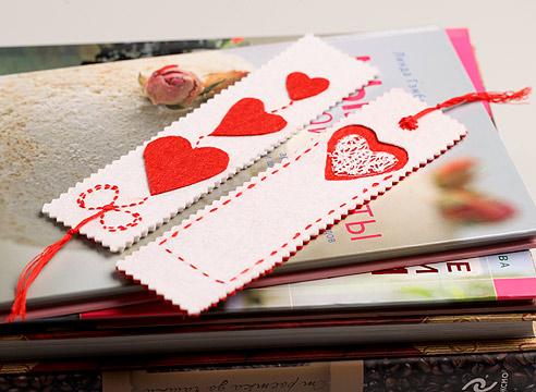 Закладка-валентинка