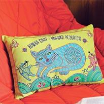 Чехол для подушки Кошка