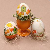 Красим яйца: декупаж