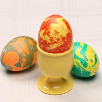 Красим яйца: мраморирование
