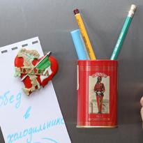 Для карандашей, магнит на холодильник