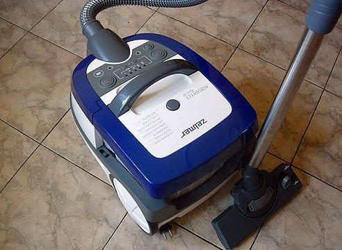 Купить моющий пылесос zelmer zvc752stru, белый/синий по выгодной.
