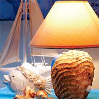 светильник в морском стиле