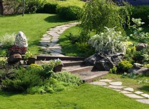 Садовые дорожки: удачные решения. Фото