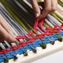 Плетение коврика из трикотажа. Шаг 2