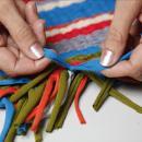 Плетение коврика из трикотажа. Шаг 5