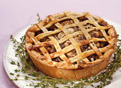 Кулинарный прогноз на 2015, пирог с мясом и грибами