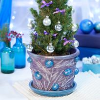 Кашпо для новогодней елки