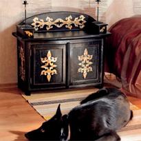 Реставрация старой мебели: тумба
