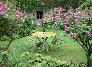 Штамбовые розы в дизайне сада