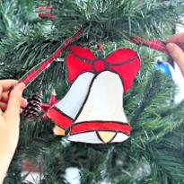 тиффани, витраж, новый год, елочная игрушка, новогоднее украшение