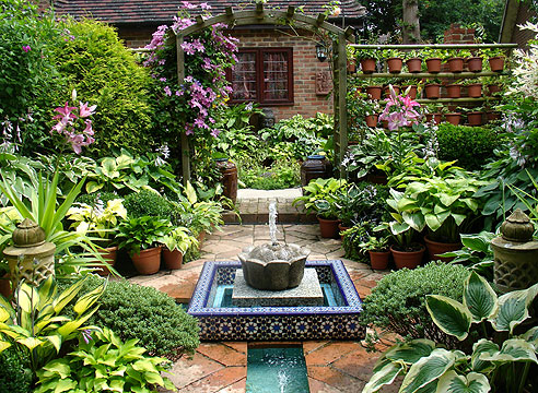 Сад Джун Колли и Джона Бейкера. Коллекция хост. Исламский сад.