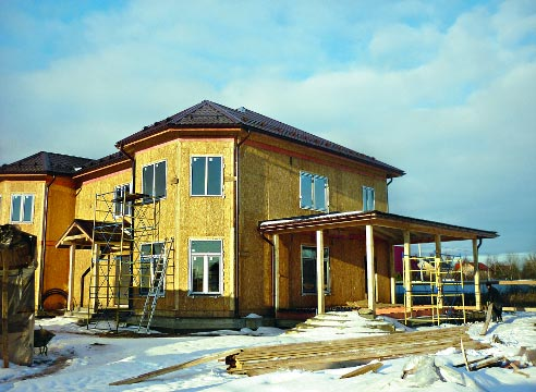 Каркасный канадский дом