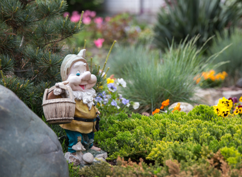 садовая фигура, садовый гном, идеи для сада