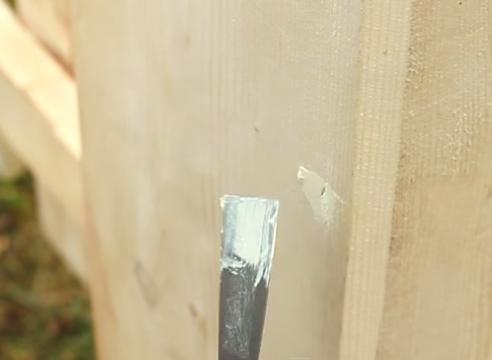 как обновить деревянный забор, пропитка Pinotex