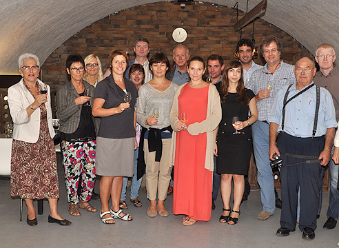 Французская делегация на заваоде шампанских вин в Абрау-Дюрсо