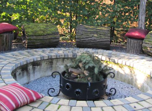 Сад Екатерины Локшиной, идеи для сада, дизайн сада, Костровая площадка