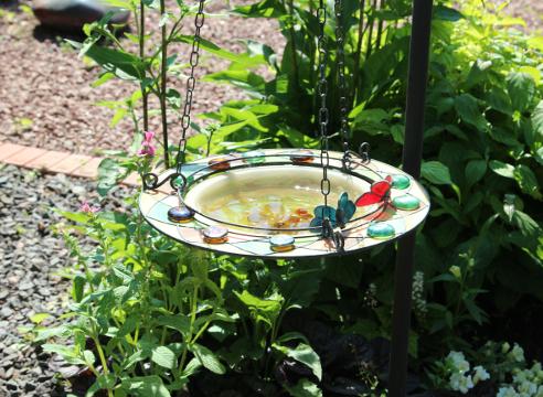 Сад Екатерины Локшиной, дизайн сада, идеи для сада, поделки в саду, Поилка для птиц