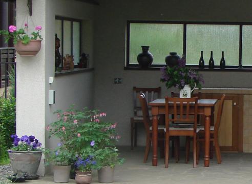 Сад Галины Скалкиной, летняя кухня, идеи для сада, постройки в саду