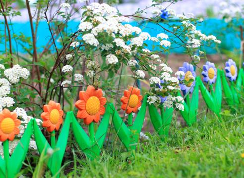 садовая фигура, забор, ограда, идеи для сада, дизайн сада