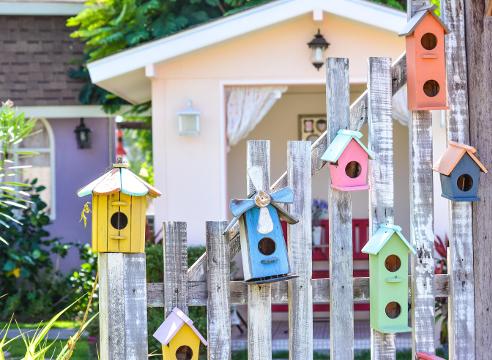садовая фигура, забор, идеи для сада