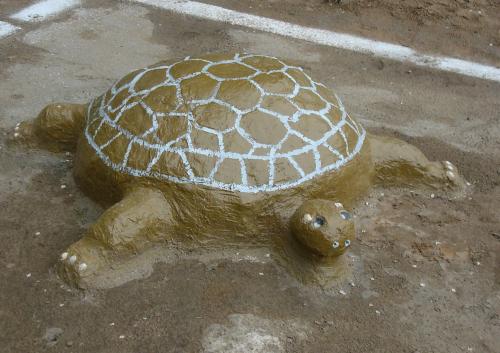 Как сделать черепаху своими руками из цемента