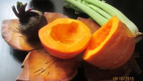 Салат из запеченных овощей с кедровыми орешками. Шаг 1
