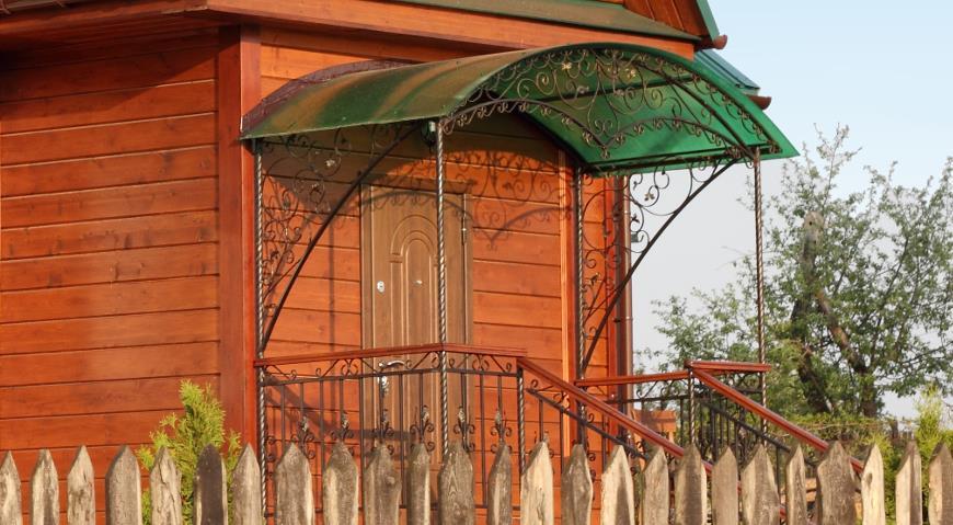 Навесы из поликарбоната к частному дому своими руками: фото 63