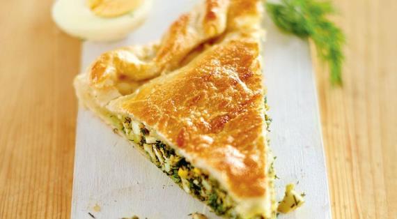Пирог с укропом и яйцами