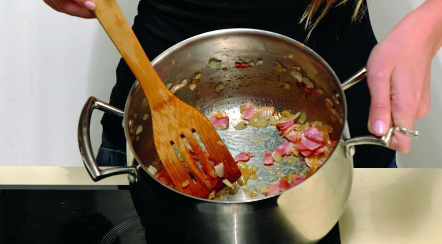 Тыквенный суп с беконом. Шаг 1