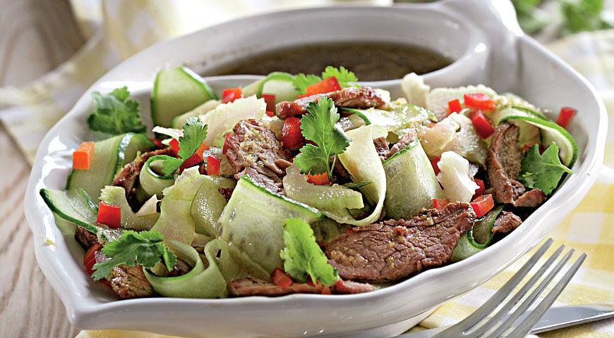 Салат из мяса говядины пошаговый рецепт с
