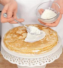 Блинный пирог с рыбным муссом. Шаг 6