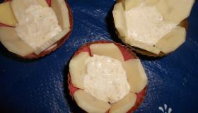 Картофельные корзиночки с киноа и сыром. Шаг 3