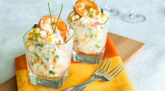 рецепт салат с кукурузой и рисом рецепт с фото