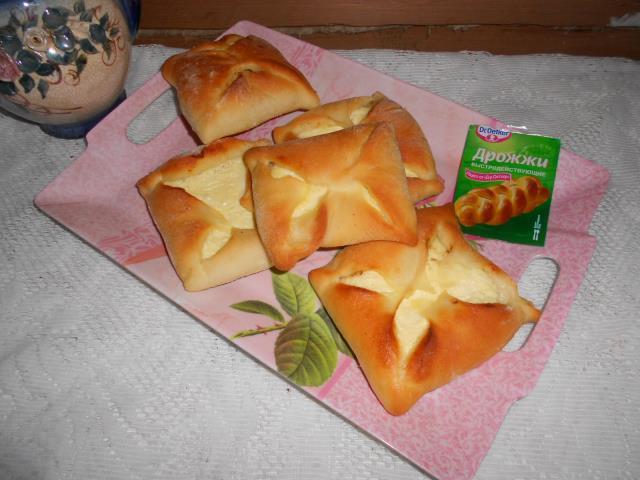 Конвертики с творогом рецепт с фото пошагово