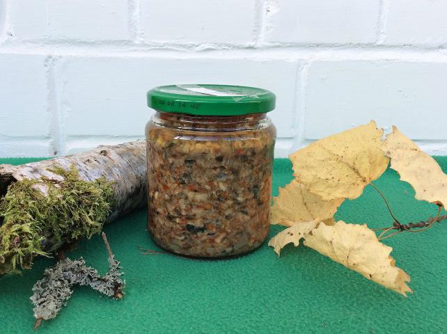 грибная икра рецепт на зиму з болгарским перцем